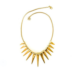 Tribal Sun Rays Necklace in Brass, Handmade