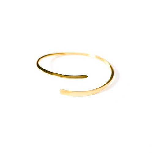 Brass Bangle Wrap, Handmade Thread Design in Gold Finish By The Ring o
