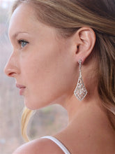 Load image into Gallery viewer, Vintage Bridal Drop Earrings in Cubic Zirconia