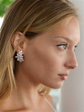 Load image into Gallery viewer, Cubic Zirconia Marquis Cluster Earrings