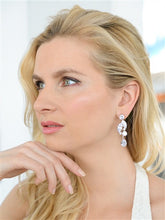 Load image into Gallery viewer, Cubic Zirconia Mosaic Cluster Earrings with Teardrop