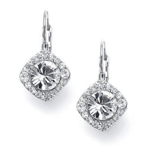 Load image into Gallery viewer, Mini Crystal Earrings for Wedding or Prom Available in 3 Finishes