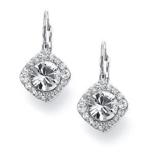 Mini Crystal Earrings for Wedding or Prom Available in 3 Finishes