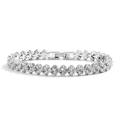 Tennis Bracelet in Cubic Zirconia in 3 Finishes