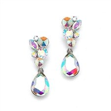 Crystal Teardrop Earrings Bridal or Prom