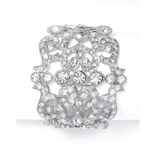 Load image into Gallery viewer, Bold Crystal Cuff Wedding/Prom Bracelet by the ring madam mar593B
