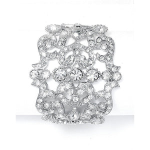 Bold Crystal Cuff Wedding/Prom Bracelet by the ring madam mar593B