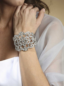 Our Bridal and Special Occasion bracelets are unique pieces to be worn alone or in mulitples to create your own style. They are designed to help you shine on your wedding day, prom, or every party on your social calendar. Most of The Ring Madam's collection is rhodium plated, 14k, 18k, or rose gold multiple times for a longer life.