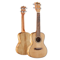 Amumu SPFM-C Solid Spruce Top Spalted Maple Gloss Concert Ukulele