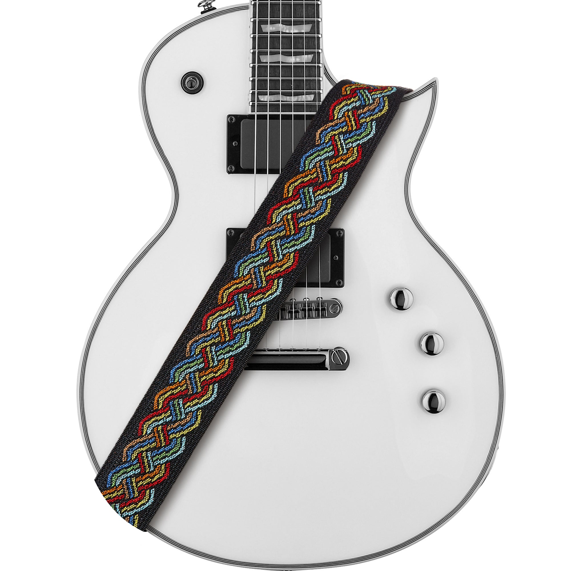 Amumu Celtic Knot Guitar Strap Multi-Color Polyester