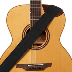 Amumu Cotton Guitar Strap Black for Acoustic/ Electric Guitars, Bass
