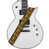 Amumu Guitar Strap Shiny Gold Thread Embroidery Cotton