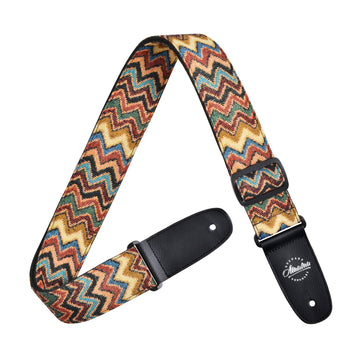 Amumu Chevron Jacquard Woven Guitar Strap Cotton