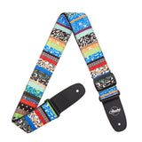Amumu Ethnic Folk Guitar Strap Blue Denim for Acoustic/ Electric Guitars, Bass