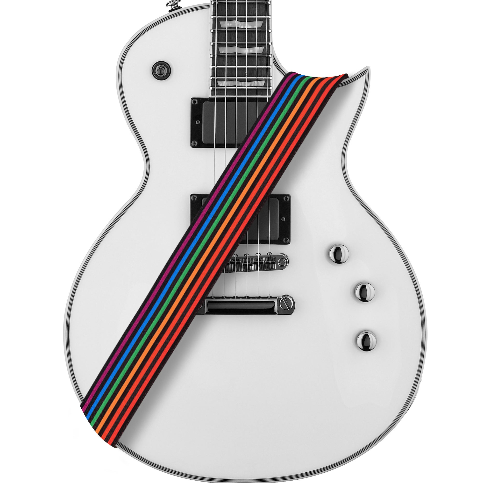 Amumu Rainbow Guitar Strap Polyester Cotton