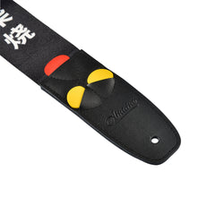 Amumu Proverb Quotes Print Guitar Strap Black Polyester Cotton