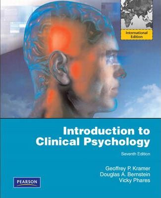 Introduction to Clinical Psychology : International Edition