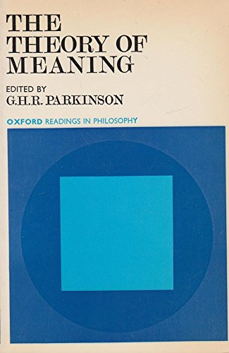 The Theory Of Meaning