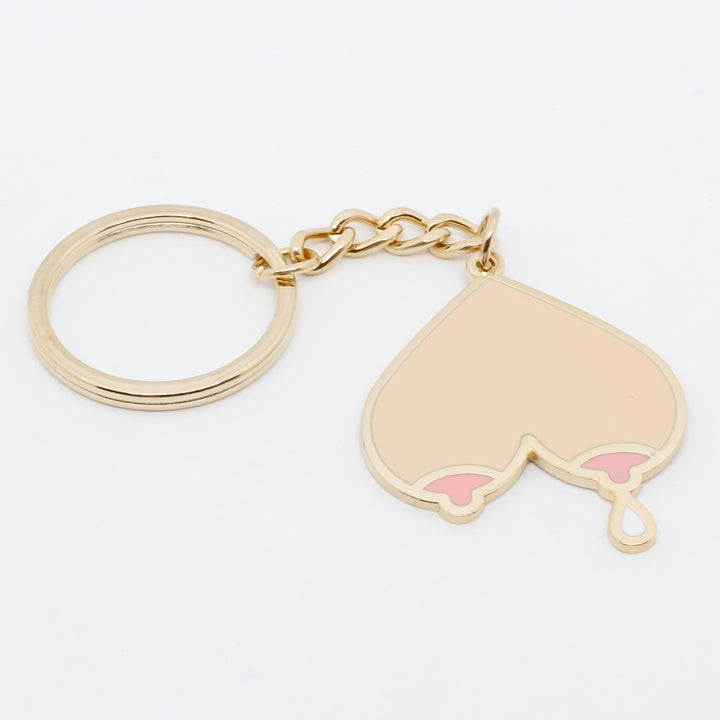 Dripping Breasts Enamel Key Ring