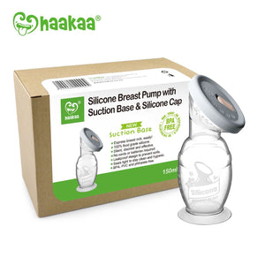 Haakaa Breast Pump Haakaa - Silicone Breast Pump with Suction Base and Silicone Cap Pack