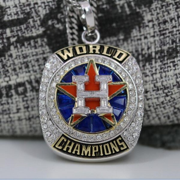 Houston Astros World Series 2017 Championship Necklace Pendant - Ace Rings