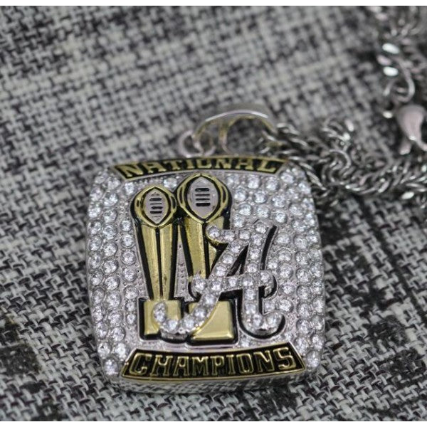 Alabama Crimson Tide Championship Necklace Pendant - Ace Rings