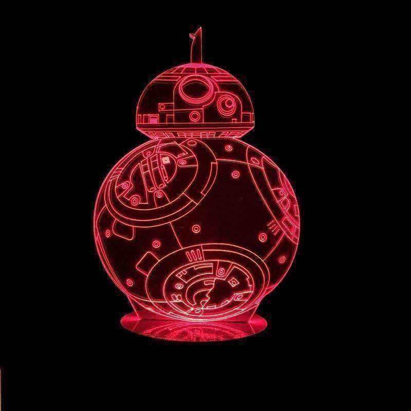 3D BB8 Illusion LED Lamp - Ace Rings