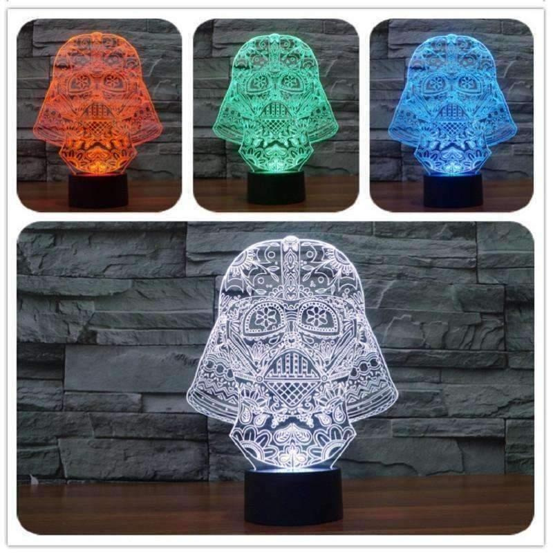 3D Darth Vader Illusion LED Lamp - Ace Rings