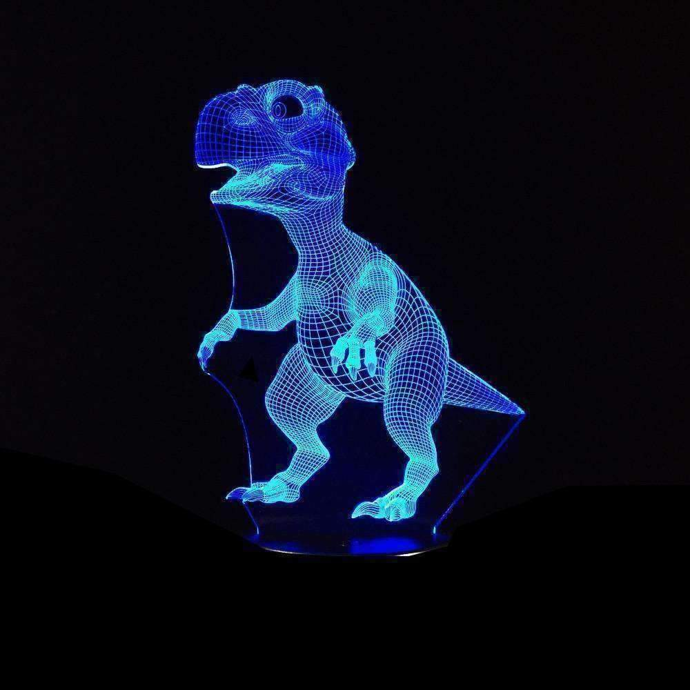 3D Dinosaur Illusion LED Lamp - Ace Rings