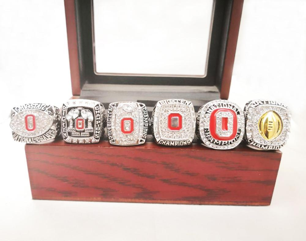 Ohio State Buckeyes NCAA Championship Ring Set (2002, 2008, 2010, 2014, 2015, 2017, 2018) - Ace Rings