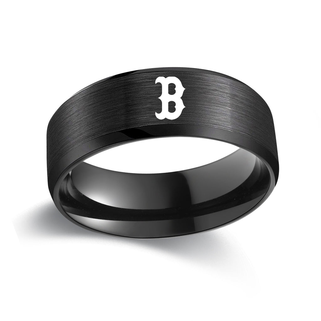 Boston Red Sox Titanium Steel Ring - Ace Rings