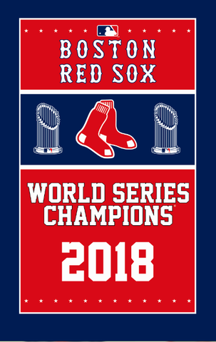Boston Red Sox World Series Flag Banner 5x3 Feet - Ace Rings