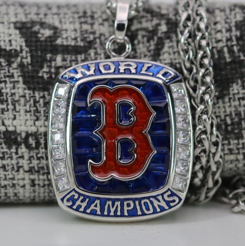 Boston Red Sox 2018 World Series Championship Necklace Pendant - Ace Rings