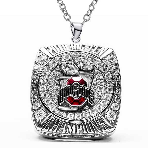 Ohio State Buckeyes 2018 Big Ten Championship Necklace Pendant - Ace Rings