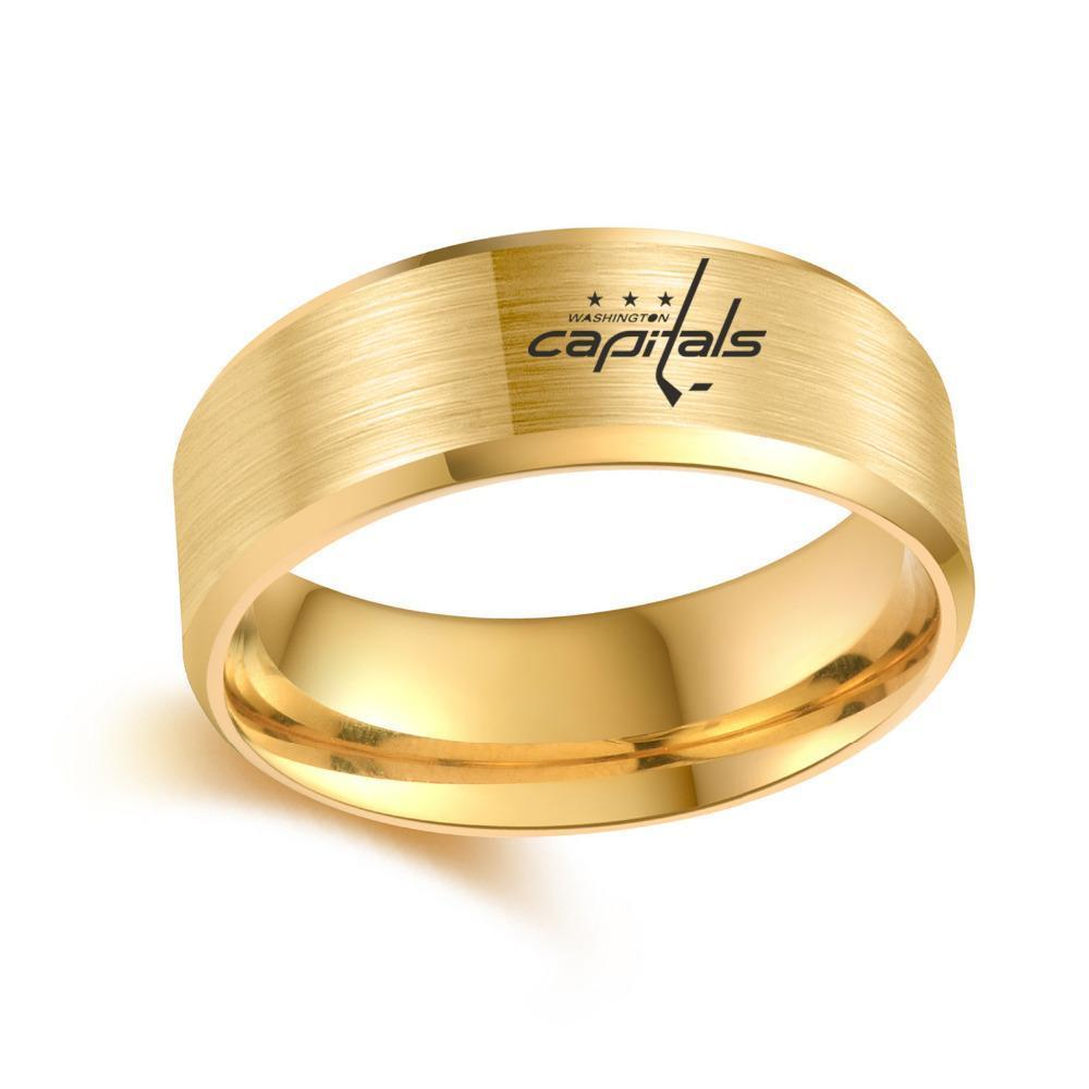 Washington Capitals Ring - Titanium Stainless Steel 316 - Ace Rings