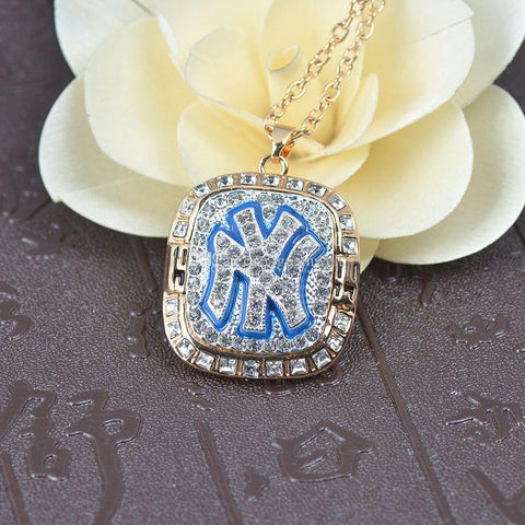 New York Yankees World Series Championship Necklace Pendant - Ace Rings