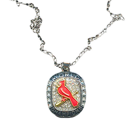 St Louis Cardinals World Series Championship Necklace Pendant - Ace Rings