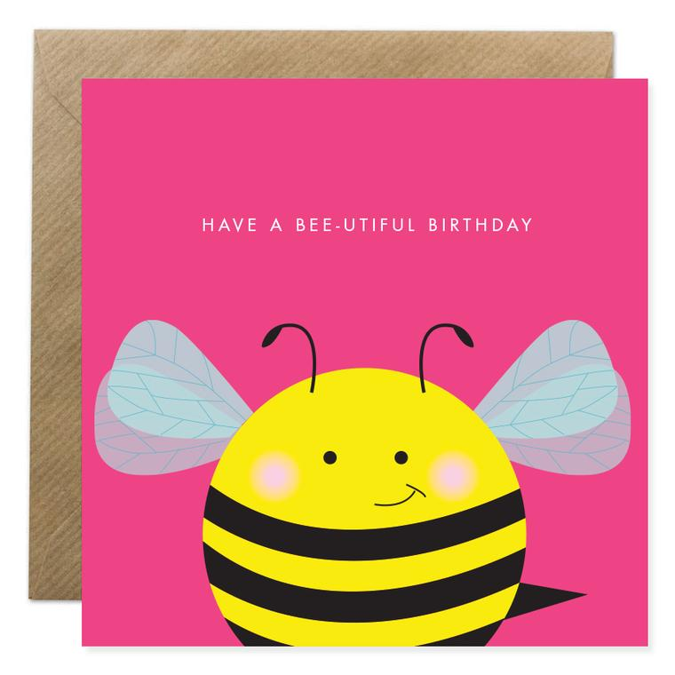 BeeUtiful Birthday Card
