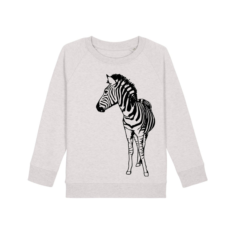 ZEBRA SWEATSHIRT IN CREAM HEATHER BLACK