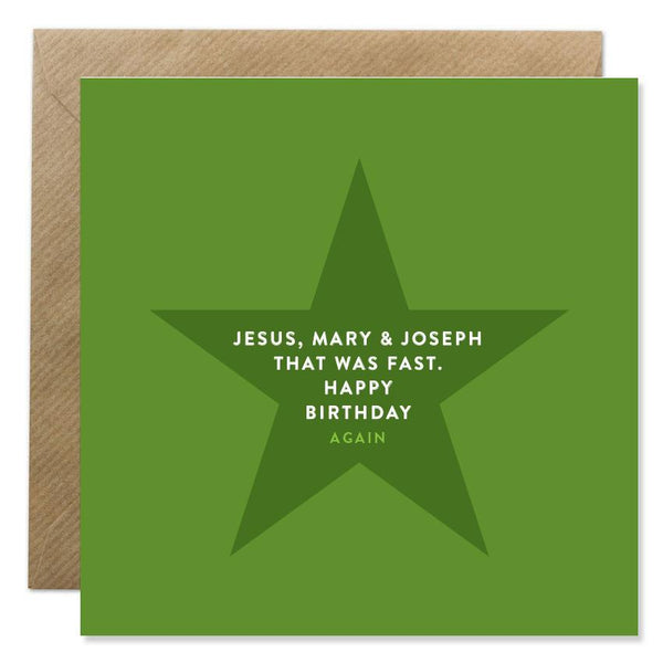 Jesus Mary and Joseph Birthday Card
