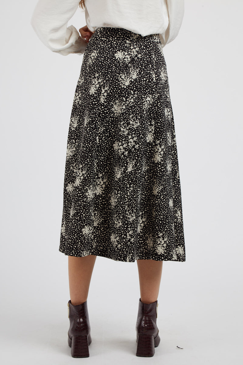 Kiyo Scatter Spray Midi Skirt