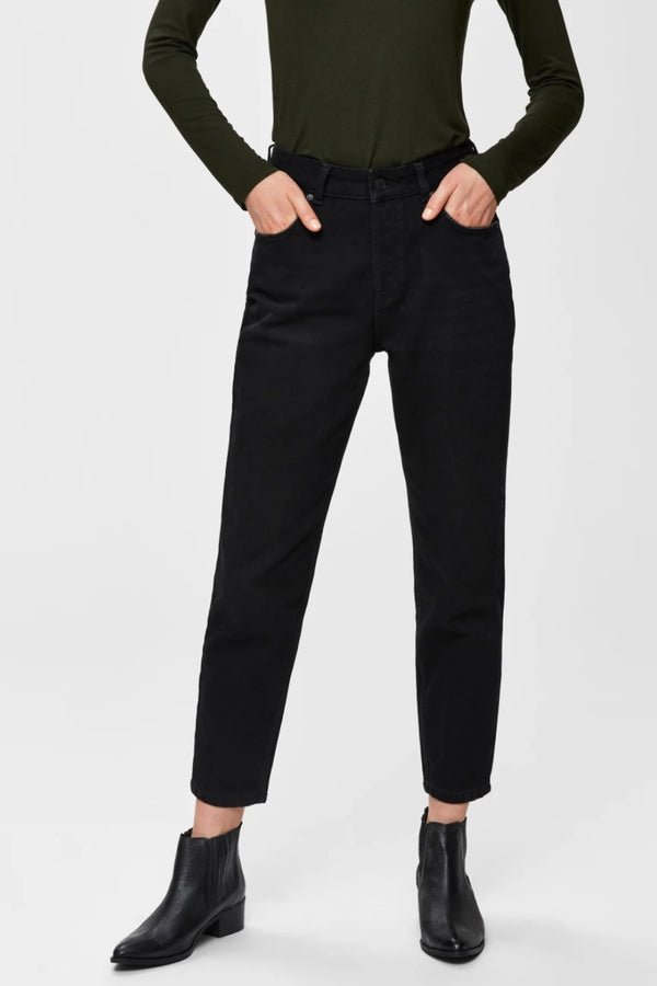 Frida Mom jeans Blk