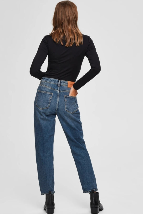 Frida Mom Jeans Blue