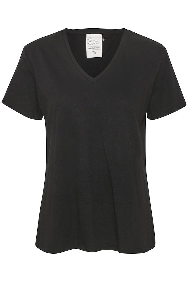 The V neck Tee Black
