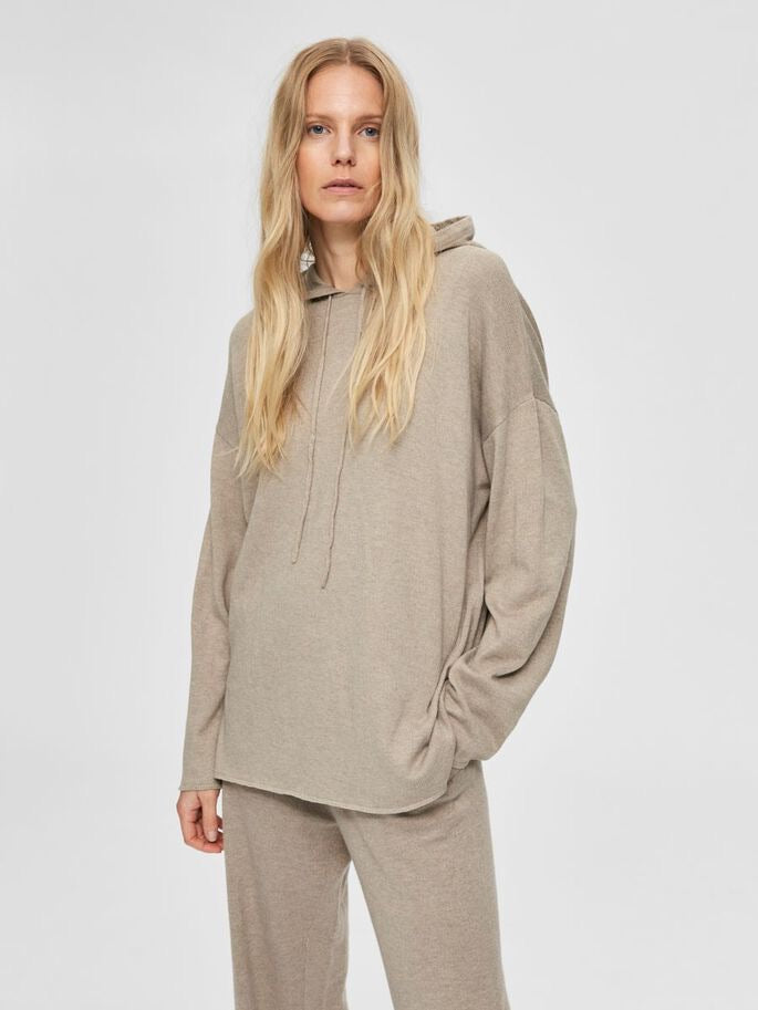 Loose Fit Cashmere Hoodie