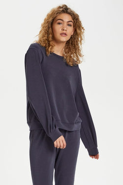The Sweat Blouse - Navy