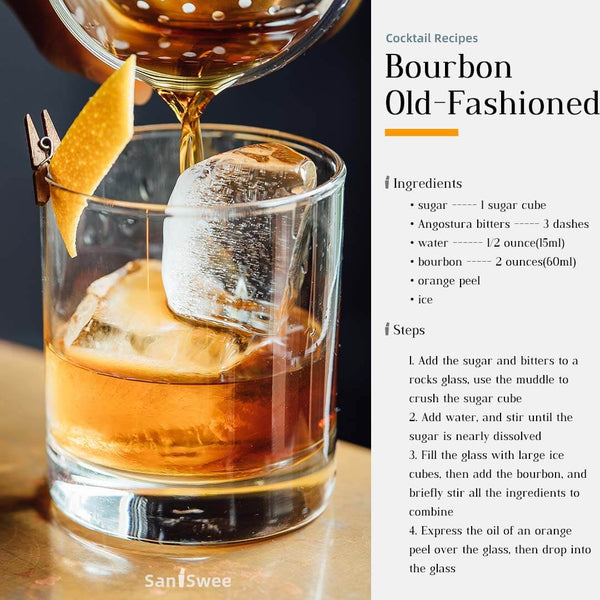 Bourbon Old-Fashioned Cocktail Recipes - SanSwee