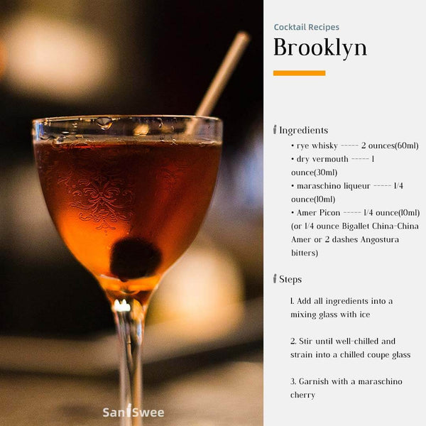 Brooklyn Cocktail Recipes - SanSwee
