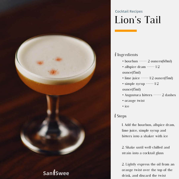 Lion's Tail Cocktail Recipes - SanSwee