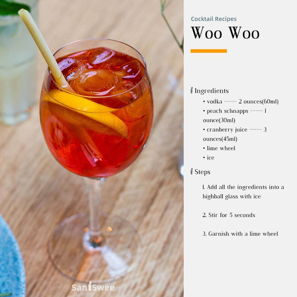 WooWoo Cocktail Recipes - SanSwee